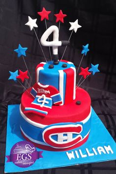 Cakes hockey Canadien Hockey Birthday, Boy Birthday, Birthday Cake, Birthday Parties, Cupcake Shops, Cupcakes, Toronto Maple Leafs, Fancy Cakes, Bar Mitzvah