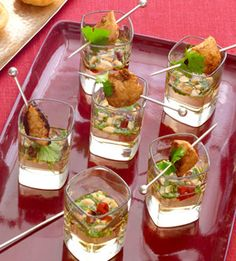 When I visited France a couple of summers ago, it seemed every dinner included some kind of amuse bouche in a little shot glass.