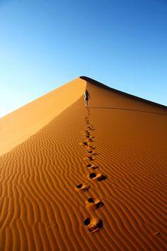 Footprints, Namib-Naukluft National Park in Namibia