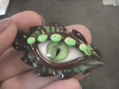 Lampwork Glass Dragon Eye Pendants - Jeannie Cox