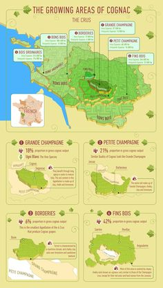 The growing areas of #Cognac