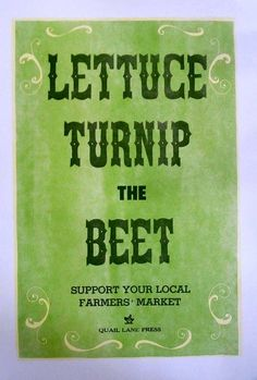 Let Us Turn Up the Beat on Farmer's Markets - this is so great!