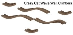 Cat Wave Wall Climbers - CrazyCatCondos.com - Cat Furniture Purrfect for kittys , Cat Condos ,Cat Gyms For Cat Climbing Kitty Napping Cat Lounging For all Cats and kittens