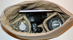 Custom Camera Bag insert DSLR // for your backpack or purse, tan waterproof  // padded carrier, zipper top by Darby Mack Designs. $48.00, via Etsy. Camera Bag Insert, Camera Bags, Waterproof Camera Backpack, Photography Equipment, Trending Outfits, Backpacks, Zipper, Purses, Top