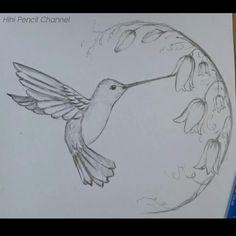 Easy Flower Drawings, Flower Art Drawing, Circle Drawing, Pencil Drawings Of Flowers, Feather Drawing, Art Drawings Sketches Simple, Pencil Art Drawings, Drawings Of Birds, Love Birds Drawing