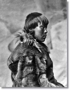 Aspecto de un esquimal de principios del siglo XX