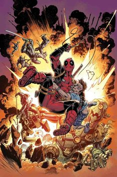 Deadpool Fantastic Comic Covers Comic Art Comic art and comic covers Comic Book Characters, Comic Book Heroes, Marvel Characters, Comic Books, Marvel Comics Art, Marvel Heroes, Marvel Dc, Mark Bagley, Comics