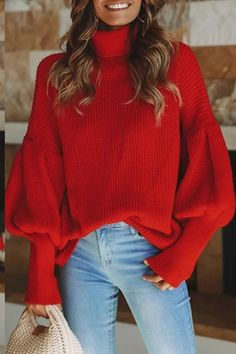 Description Product Name Fashion casual loose plain high collar long sleeve sweater Brand Name Geoju SKU Gender Women Season Autumn/Winter Type Sex Loose Sweater, Long Sleeve Sweater, Sweater Coats, Casual Sweaters, Casual Tops, Casual Chic, Black Women Fashion, Womens Fashion, Fashion Top