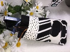 Sunglasses Case Stylish Black and White by PhenomenalWomenShop