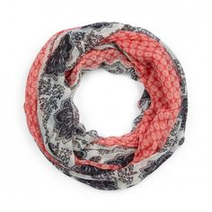 Sole Society - Mixed Print Scarf - Coral