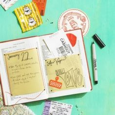 My favorite DIY journals to document our summer travels! Image via ReadyMade.
