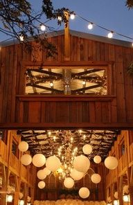 Barns and lanterns! It's like two of our wedding themes meshed into one!
