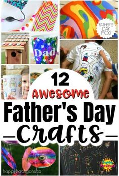12 Homemade Father's Day Gifts Kids can Make. Easy, inexpensive homemade gifts for men that kids can make for dads, […] Fathers Day Art, Fathers Day Presents, Gifts For Father, Happy Fathers Day, Homemade Fathers Day Gifts, Diy Father's Day Gifts, Father's Day Diy, Craft Gifts, Fathersday Crafts