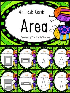 $ 48 Task cards to help your students practice area