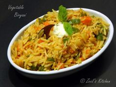 Vegetable biryani very popular around the world for its tempting aroma and taste. Vegetable biryani is one of the favorite among the vegetarians as its simple. If you have all the vegetables cut and kept ready, then it hardly takes 10-15 minutes to prepare this. In India one can easily find vegetable biryani as street food, even kids will love to have vegetable biryani in tiffin box. This goes well with raita and papad. Learn how to make vegetable biryani with this step by step recipe. 