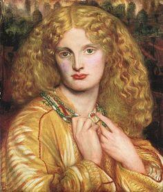 ***Dante Grabriel Rossetti, Helena de Troya, 1863. Hamburgo, Kunsthalle.