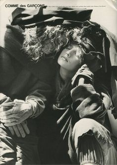 Comme des Garcons by Bruce Weber, 1980 campaign Bruce Weber, Rei Kawakubo, Cindy Sherman, Anti Fashion, Fashion Art, 90s Fashion, Trendy Fashion, Editorial Photography, Fashion Photography