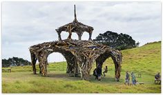 "Gregor Kregar - ""Pavilion Structure"" - recycled timber - 700x800x800 cm."