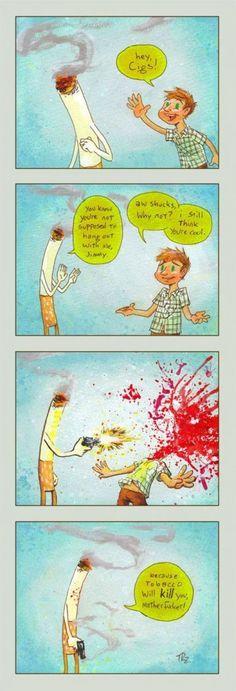 Smoking Kills #comic #comicstrip #cartoon