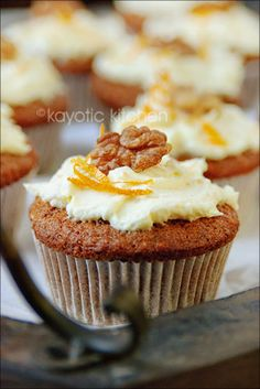 I've actually never made cup cakes...  Kayotic Kitchen recipes seem easy to follow. I will try that one :)