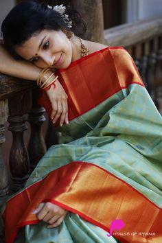 Kanchipuram Silk Sarees Shop in Chennai Bridal Kanchipuram Sarees - House of Ayana Kora Silk Sarees, Silk Saree Kanchipuram, Kanjivaram Sarees, Bridal Silk Saree, Saree Wedding, Saris, Chennai, Sari Shop, Saree Poses
