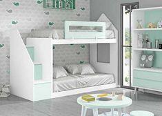 LITERA 02 1 Kids Bed Design, Kids Bedroom Designs, Room Design Bedroom, Bunk Bed Designs, Home Room Design, Small Room Bedroom, Bedroom Decor, Kids Room Bed, Bunk Beds For Girls Room