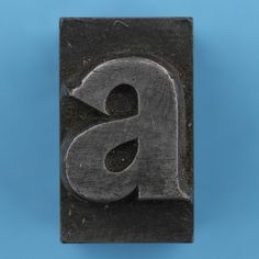metal type letter a Alphabet, Great Fonts, Metal Letters, Apple Tv, Types Of Metal, Initials, Amanda, Design, Ideas