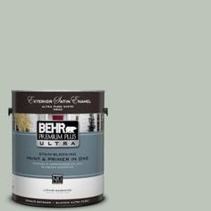 BEHR Premium Plus Ultra 1-Gal. No.PPU11-11 Summer Green Satin Enamel Exterior Paint-985001 at The Home Depot