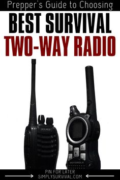 The best survival two-way radio or walkie talkie may be critical in a survival situation but it's also handy on camping! Check out the best options. Survival Blog, Survival Supplies, Urban Survival, Survival Prepping, Survival Gear, Survival Skills, Pop Up Camping Tent, Hiking Trips, Outdoor Gadgets