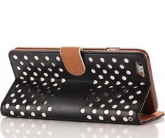 50x Hollowed Out Polka Dots Wallet Leather Case for iPhone 6 Plus 5.5 inches Flip Pouch Stand Cover Card Holders
