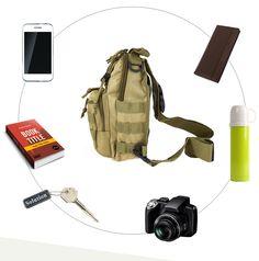 Outdoor Shoulder Military Backpack Camping Travel Hiking Trekking Bag