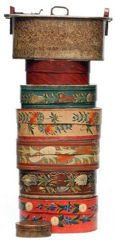 folk art boxes from The Netherlands