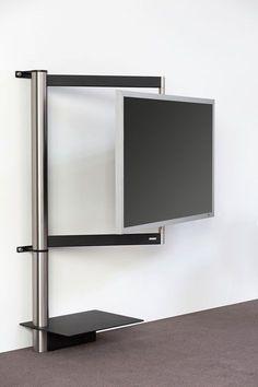 TV Mount / Stand Swivel function for perfect view from any place. Concealed cable management. TV Halterung / Wandhalterung Durch das funktionelle Design unserer solution-Reihe hängt der Fernseher sehr flach an der Wand, lässt sich in jede gewünschte Position schwenken und ermöglicht somit immer den optimalen Blickwinkel aus jeder Position des Wohnraumes. Besonderheit: unsichtbare Kabelführung.