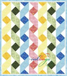 Modern Baby Quilts Patterns Baby Girl Quilt Patterns Free Easy Baby Girl Quilt Patterns Twisting Ribbons Inklingo Ribbon Baby Quilt Possible Pattern For Helen Muskan Jellyroll Quilts, Easy Quilts, Small Quilts, Patchwork Quilting, Quilt Blocks Easy, Block Quilt, Quilting Tutorials, Quilting Projects, Quilting Designs