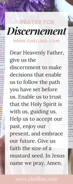 Discernment Prayer