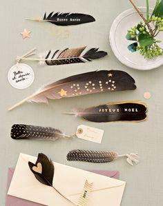 Des plumes à message pour les fêtes de fin d'année / Feathers to message for Christmas and new Year holidays