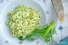 Lauch-Fenchel-Risotto mit Petersilienpesto - Madame Cuisine