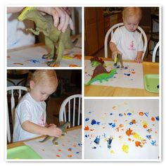 From Chalkboards To Strollers: Dinosaur Tracks Painting