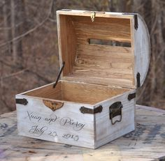 Box lockable card chest with card slit rustic wedding card box white distre Rustic Card Box Wedding, Wedding Boxes, Chic Wedding, Wedding Cards, Trendy Wedding, Wedding Ideas, Wedding White, Wooden Card Box, Shabby Chic Baby Shower