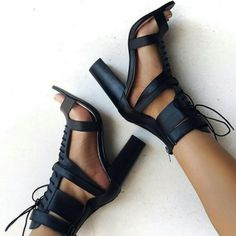 0f150212e02d Trending Now  Gladiator Sandals (L) The Frankie Shoe for Simmishoes (R) The  Blaint heel Black Lipstik shoe for Babyboo Fashion