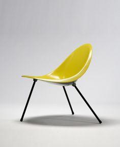 Aluminum Tripod Chair (yellow), 1953 Poul Kjaerholm - $15,000