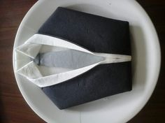 Items similar to Folding napkin suit shirt tie on Etsy Napkin Folding, Communion, Origami, Table Settings, Entertaining, Creative, Crafts, Etsy, Birthday
