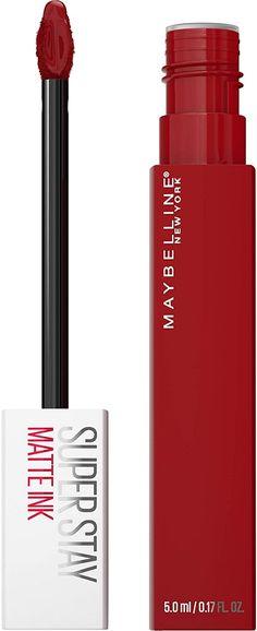 SPICED EDITION -- 340 EXHILARATOR Red Liquid Lipstick, Bright Lipstick, Lipstick Shades, Matte Lipstick, Maybelline Matte Ink, New Cosmetics, Upper Lip, Your Lips