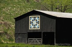 This is one of the many barns on the Barn Quilt Trail in Elliott County, Kentucky.   The quilt pattern is Snow Crystals. • Buy this artwork on apparel, stickers, phone cases, and more.