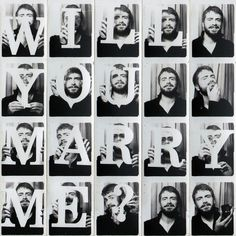 So cute!  Photo booth proposal <3