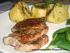 mięso wieprzowe z ziemniakami z parowaru