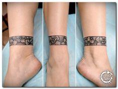 Tattoo Sergey Batalichev - tattoo& photo In the style Graphics, Dotwork, Female, Flowe Ankle Cuff Tattoo, Leg Band Tattoos, Tribal Band Tattoo, Sleeve Tattoos, Arm Wrap Tattoo, Thigh Band Tattoo, Tribal Foot Tattoos, Tattoo Arm, Geometric Tattoos