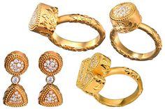 #Sortijas y #Pendientes Velazquez de la Colección Tesoros del Imperio de #CarrerayCarrera ahora en MHP. #jewelry #joyeria #joyas #diamates #oro #gold #diamonds #rings #aretes #earrings #fashion #moda #luxury #lujo