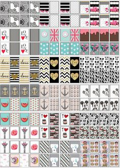 Cartela de adesivos para unhas para imprimir. Nail Stickers, Planner Stickers, Typography, Lettering, Nail Decorations, Gorgeous Nails, Beauty Nails, Fragrance, Scrap