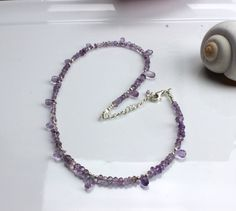 Adjustable sizing Amethyst Necklace WHO SAYS MERMAIDS DON'T WEAR PURPLE ? www.kimberlyhahnstreasures.com